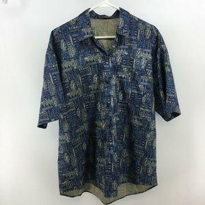 Mens T. Corner Short Sleeve Silk Shirt